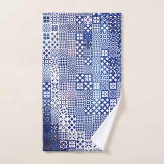 Lisbon Aquarium tiles texture pattern ceramic port Hand Towel