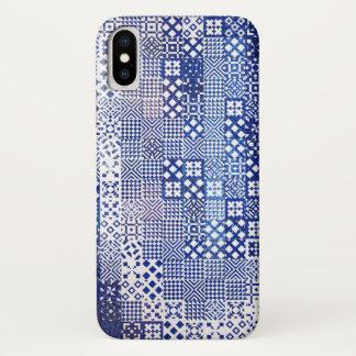 Lisbon Aquarium tiles texture pattern ceramic port iPhone X Case