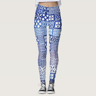 Lisbon Aquarium tiles texture pattern ceramic port Leggings