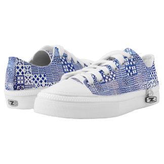 Lisbon Aquarium tiles texture pattern ceramic port Low-Top Sneakers