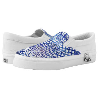 Lisbon Aquarium tiles texture pattern ceramic port Slip-On Sneakers