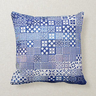 Lisbon Aquarium tiles texture pattern ceramic port Throw Pillow