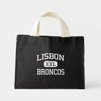 Lisbon - Broncos - Middle - Lisbon North Dakota Mini Tote Bag