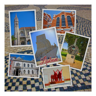 Lisbon Jeronimos Monastery & Discoveries Monument Poster