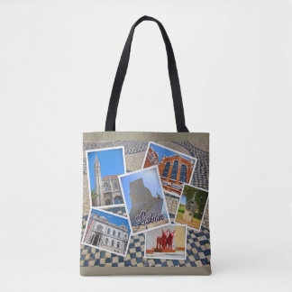 Lisbon Jeronimos Monastery & Discoveries Monument Tote Bag