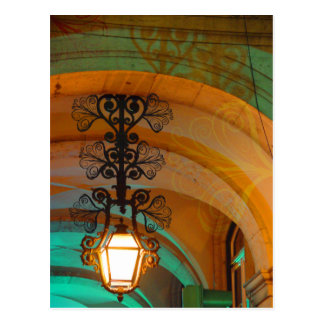 Lisbon Old Lamp postcard