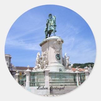 Lisbon, Portugal Classic Round Sticker