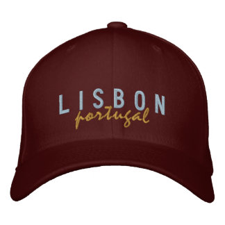 LISBON Portugal Embroidered Hat