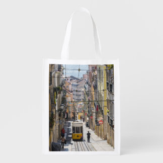Lisbon street view bag reusable grocery bag