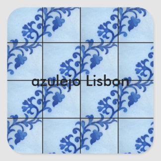 Lisbon tile square sticker