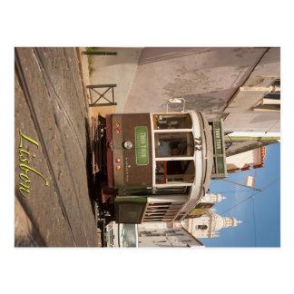 Lisbon Tour Tram Postcard