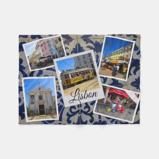 Lisbon Travel Collection Fleece Blanket