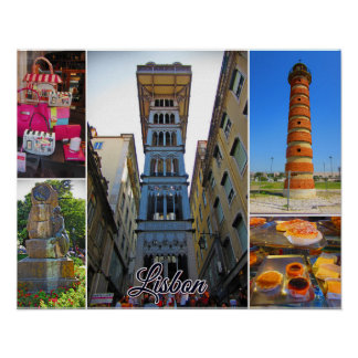 Lisbon Travel Collection - Santa Justa Elevator Poster