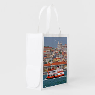Lisbon view from Tagus river Reusable Grocery Bag