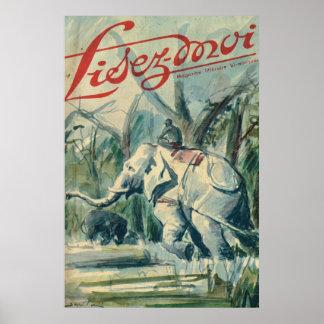 Lisez Moi cover; Charging elephant Poster