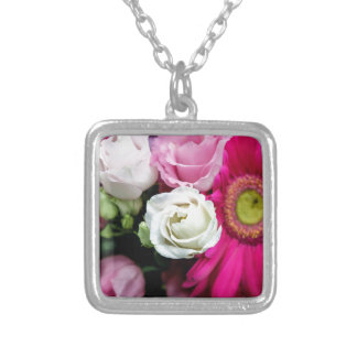 Lisianthus Silver Plated Necklace