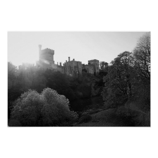 Lismore castle over the clean blackwater poster