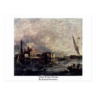 L'Isola Di San Giorgio By Guardi Francesco Postcard