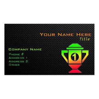 Lissez le ęr trophée d'endroit carte de visite standard