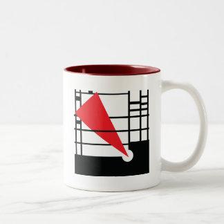 Lissitzky & Mondrian Two-Tone Coffee Mug