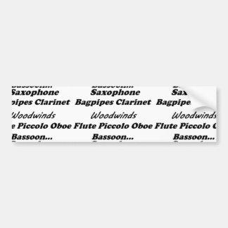 list of woodwinds bumper sticker
