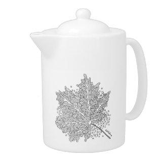 Listakora Leaf Bone China Teapot