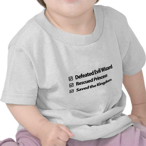 Liste de contrôle de Gamer T-shirts