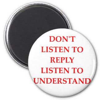 LISTEN 2 INCH ROUND MAGNET