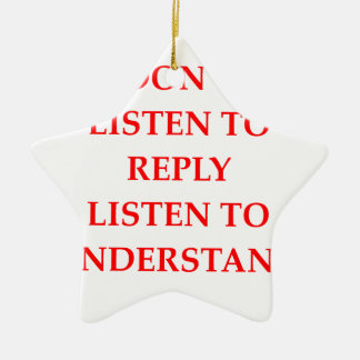 LISTEN CERAMIC ORNAMENT