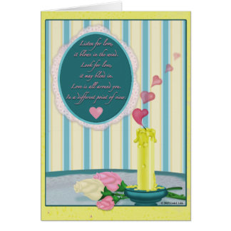 Listen for love, it blows in the wind card