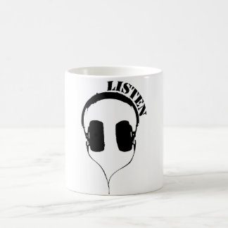Listen Headphones Mug
