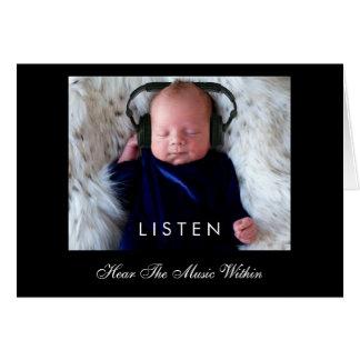 LISTEN ... Hear The Music Within Card