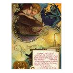 Listen Little One on Halloween Postcard
