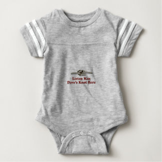 Listen Man Dave's Knot Here - Multi-Products Baby Bodysuit
