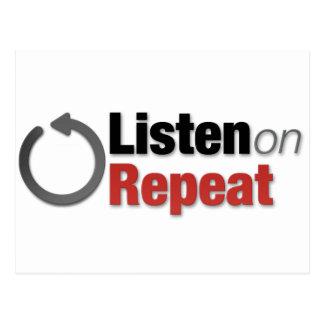 Listen on Repeat Postcard