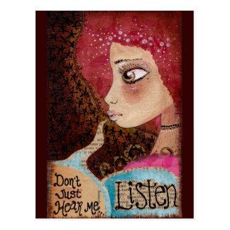 """""""Listen"""" Postcard"""