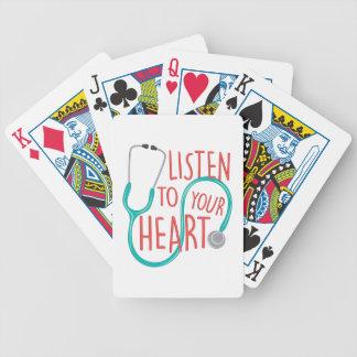 Listen To Heart Poker Deck
