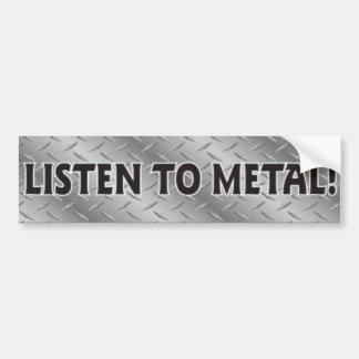 Listen To Metal, Heavy Metal Music Sticker Bumper Sticker