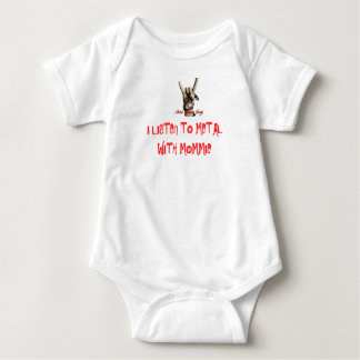 LISTEN TO METAL WITH MOMMIE BABY BODYSUIT