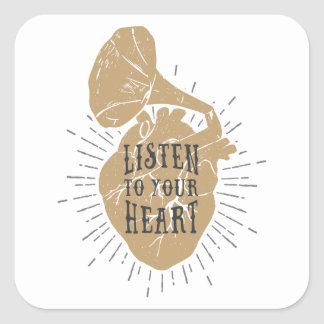 Listen To Your Heart Stickers