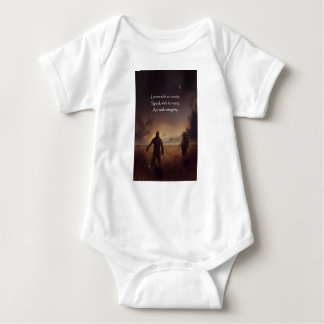 Listen with curiosity Speak with honesty Act with Baby Bodysuit