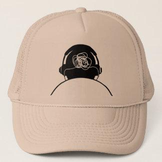 Listening to noise trucker hat