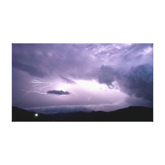 Lit by Lightning Canvas Print