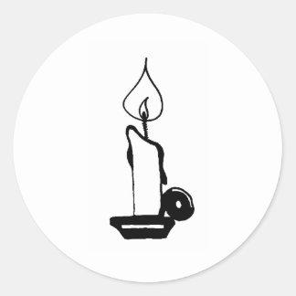 Lit Candle Round Sticker