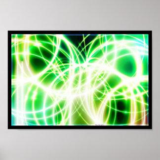 Lit Fibre Glass Cables Poster