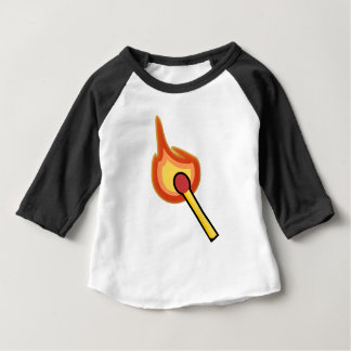 Lit Match Illustration Baby T-Shirt