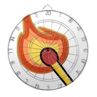 Lit Match Illustration Dartboard