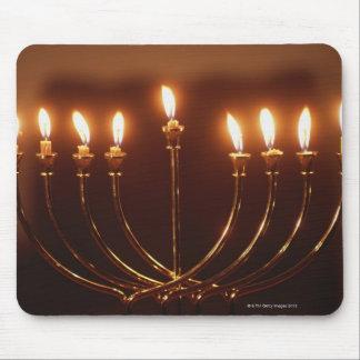 Lit menorah, Israel Mouse Pad