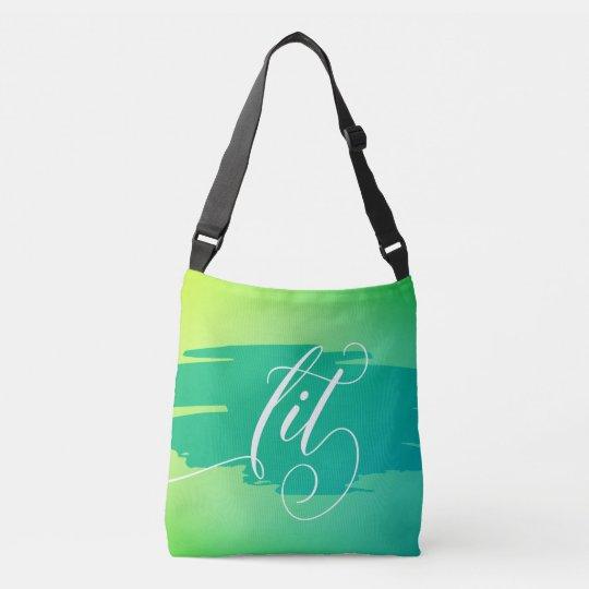 Lit modern watercolor slang words tote bag purse