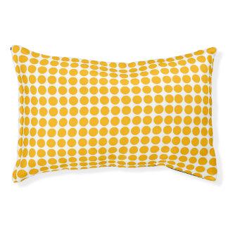 Lit Pour Animaux Le pois imprime le blanc jaune citron